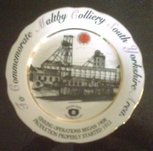 Maltby Colliery South Yorkshire commemorative mining plate Limited edition