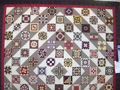 farmer's wife quilt setting them on point, so adorable, am thinking of doing them all in red and white, then background in black and white set like this, I think it would be stunning.