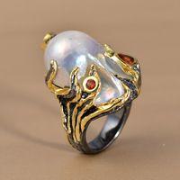 Тайский природный жемчуг очень творческий осьминог кольцо в форме 925 ювелирных изделий из серебра золотые украшения приток людей в европе