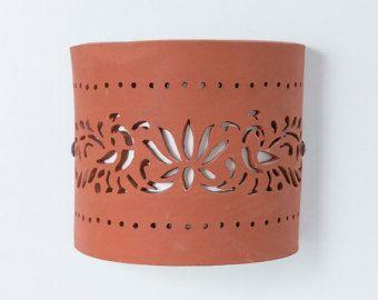 ENVÍO gratuito lámpara de pared de cerámica por CeramicART4U