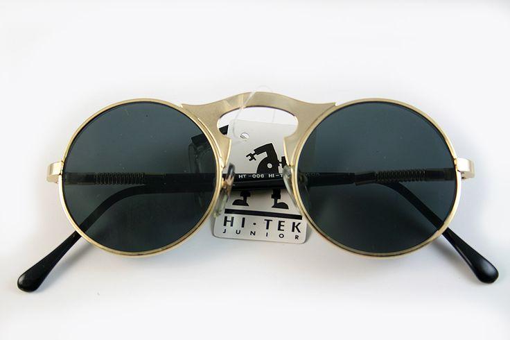 unisex round metal frame sunglasses John Lennon style Hi Tek HT-006 steampunk