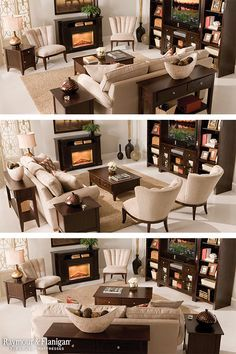 While we love a living room that's brimming with style, creating a space that's both fabulous and functional begins with knowing how to arrange your furniture. The first step is determining your room's focal point: Fireplace, TV or both!
