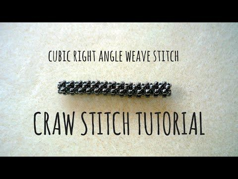 Tutorial krok po kroku na ścieg CRAW (Cubic Right Angle Weave Stitch) | Qrkoko.pl - YouTube