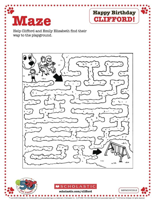 45 best images about Clifford on Pinterest  Maze Crafts and Count