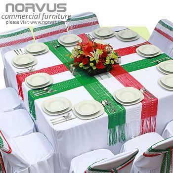 fiestas mexicana elegante | Para lucir elegante en fiestas patrias mesas cuadradas