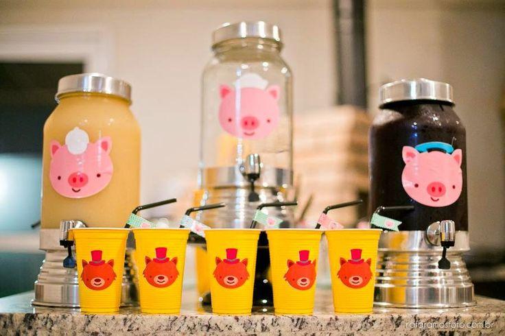 Encontrando Ideias: Festa Tres Porquinhos!!