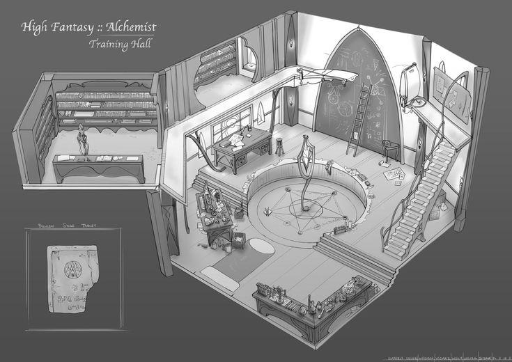 Feng Zhu Design Old School Rpg Room Designs Concept Art