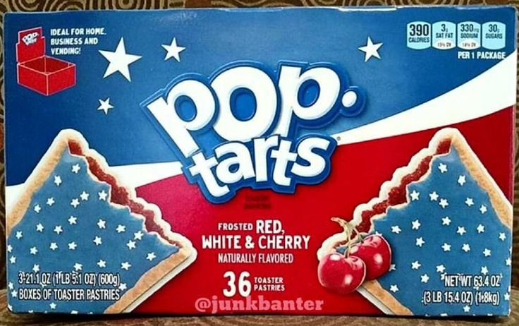 Cherry Red White and Blue Poptarts