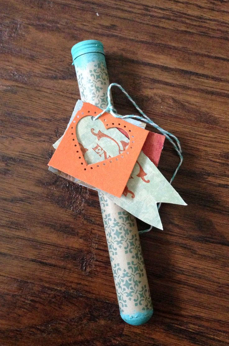 Altered Cigar Tube - Handmade & Unique Gift Holder, Gifts, Stationery, Paper Goods, Crafts, Love, Valentines Day, Anniversary, Engagement - pinned by pin4etsy.com