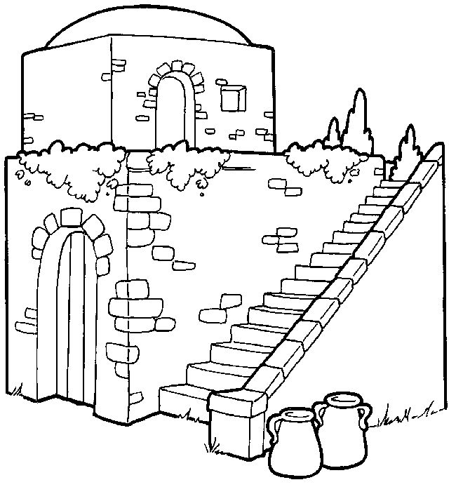 bible times gates coloring pages - photo#1