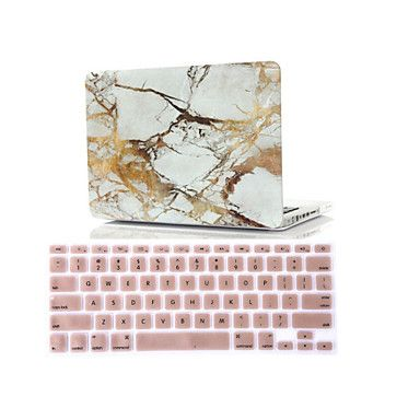"2 in 1 Marble Rubberized Hard Case Cover +Keyboard Cover for Macbook Air 11""Retina 13""/15"" 4774118 2016 – $29.18"