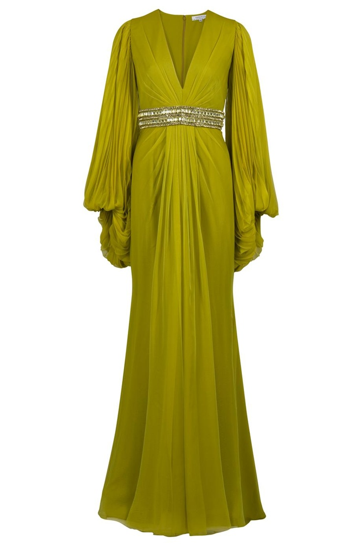 Pleated Sleeve Gown By ANDREW GN @ http://www.boutique1.com/