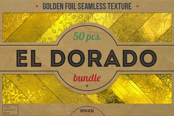 50 Golden Foil HD Textures XL Bundle by Marabu Textures Store on @creativemarket