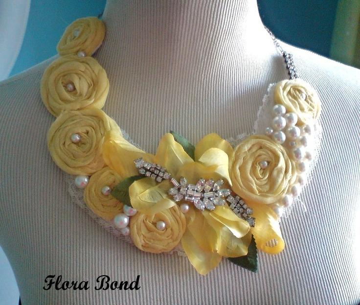 fabric bib necklace