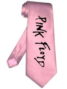 pink floyd tie PINK satin silk band logo necktie