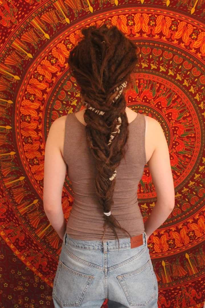 I love to braid my dreads  - Sara Navjord ॐ