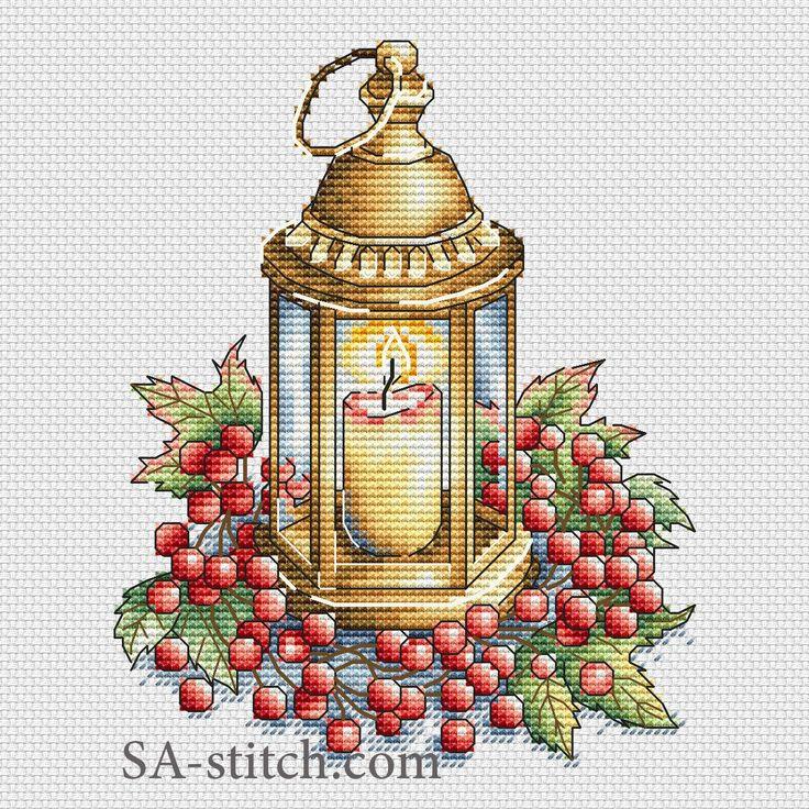 Фонарь с ягодами | SA-stitch