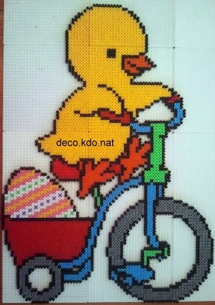Easter chicken hama perler beads by deco.kdo.nat