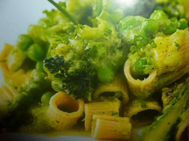 pasta con verdure - sugo cremoso