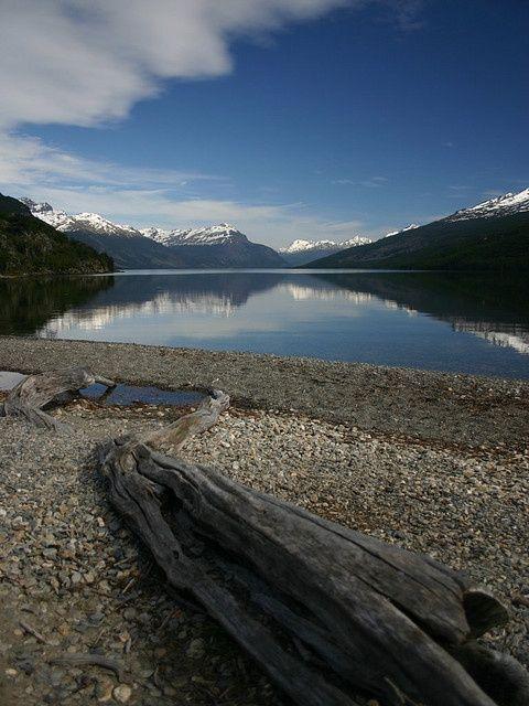 Laguna del Roco al final del la tierra en Tierra del Fuego