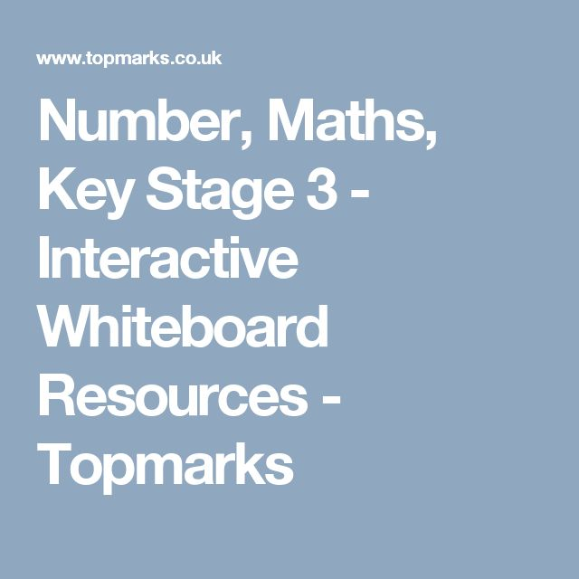 Number, Maths, Key Stage 3 - Interactive Whiteboard Resources - Topmarks