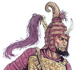 Modern artist interpretation of ancient Greek  rendering although some have suggested the original showed a profile and actually represented 2 horns (one hidden directly behind front one) rather than a single horn.