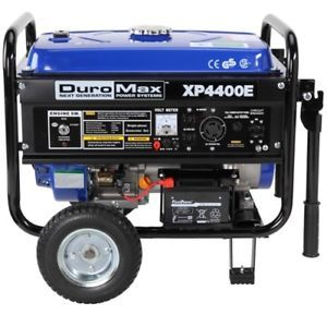 a duromax 4400 watt portable electric gas power rv generator xp4400e