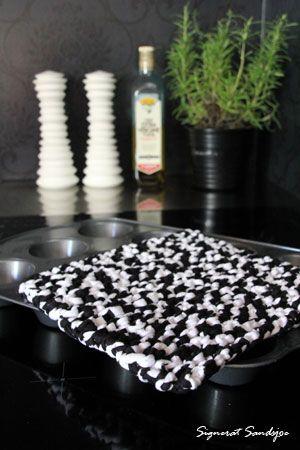 DIY: sticka din egen grytlapp - knit your own potholder