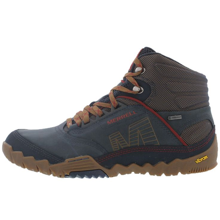 - Leather upper in blue wing - Merrell Strafuse upper provides a precise, glove like fit - Lace up front closure for secure fit - Waterproof and abrasion resistant textile - Molded nylon arch shank -
