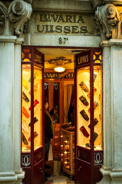 The tiny Ulisses Glovery in Lisboa. Founded in 1925 it offers Classic Handmade High quality leather gloves. A must have.