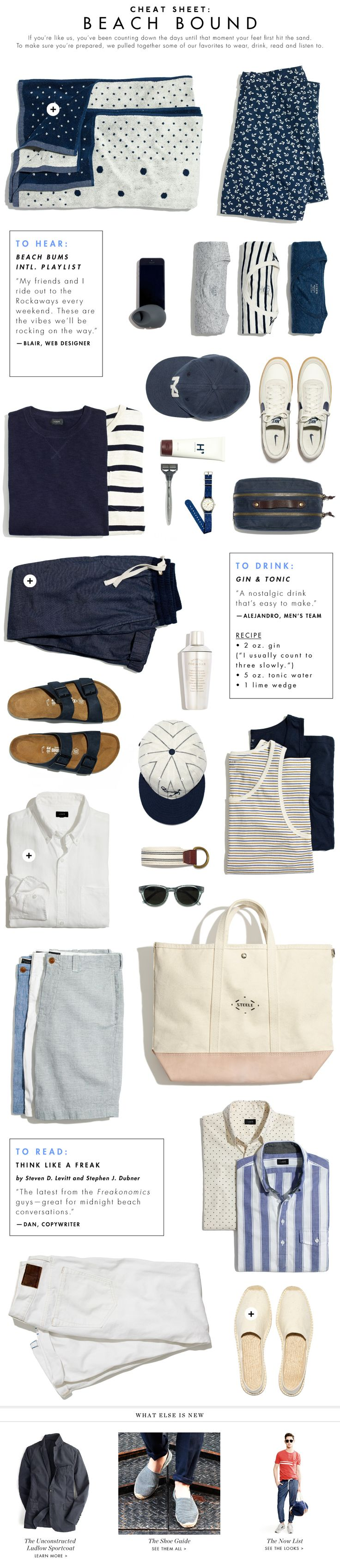 The Beach Bound Guy: A JCrew guide to living la vida playa.