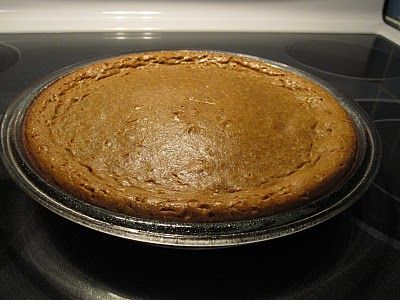 "Impossible Pumpkin Pie: ""My mom used to make Impossible Pie made with coconut. She just threw all the ingredients in the blender, poured it into a pie dish, baked it, and magically it made it's own crust. I thought this was a pretty neat idea, so I tried out this pumpkin pie version. It has all the goodness of an actual pumpkin pie, but so much easier!"""