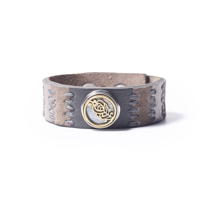 NOOSA-Amsterdam's Oshun Love Life bracelet is a handmade bracelet and is a combination of smooth leather and suede.