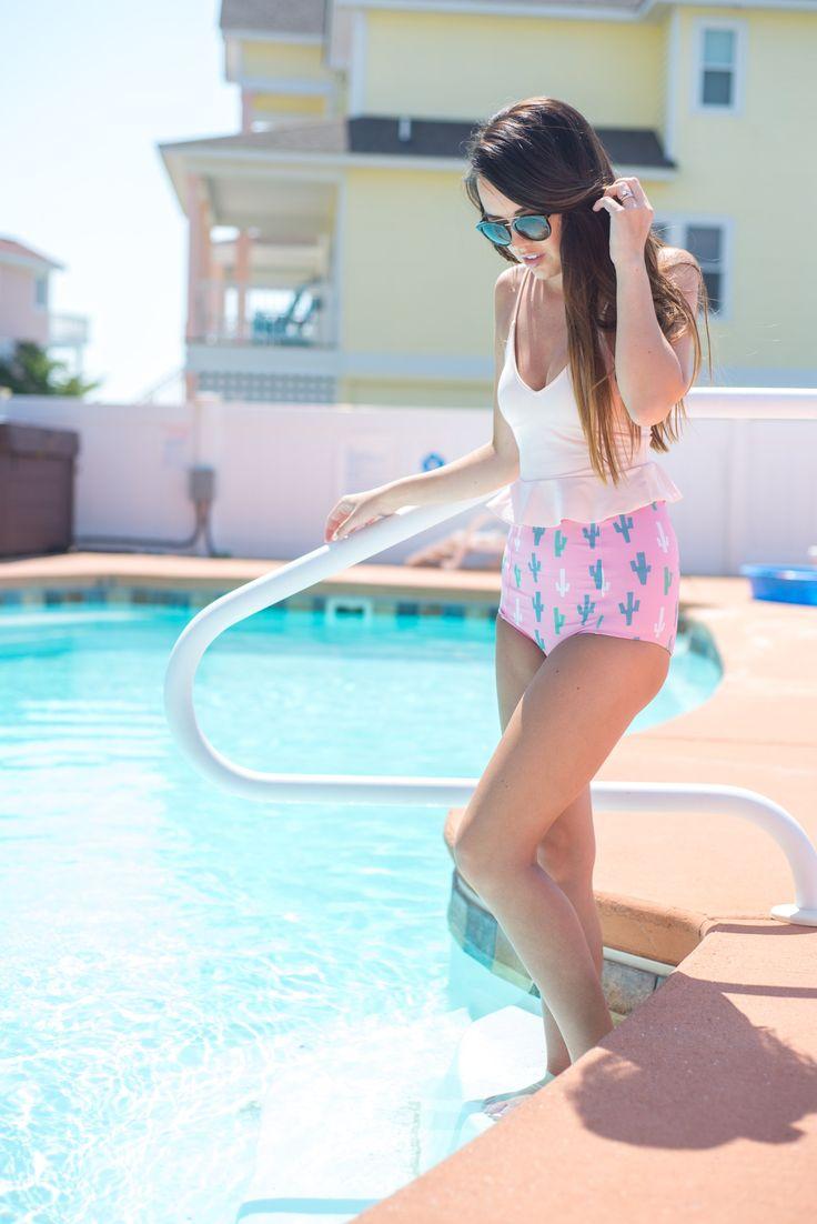 Cactus swimsuit | High-waited swimsuit | Kortni Jeane Swimwear #kortnijeaneswimmers