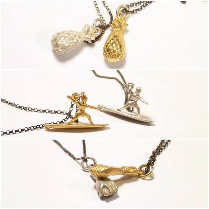 The never ending battle of gold vs silver! With a summer twist! #jewelry #silver #gold #fun #surf #surfing #coconut #beach #necklace http://ift.tt/1RMRDog