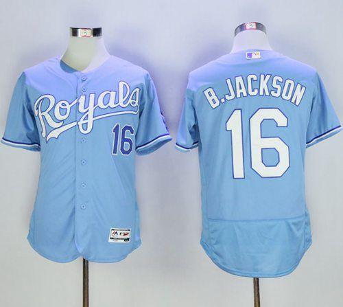 Royals #16 Bo Jackson Light Blue Flexbase Authentic Collection Stitched MLB Jersey