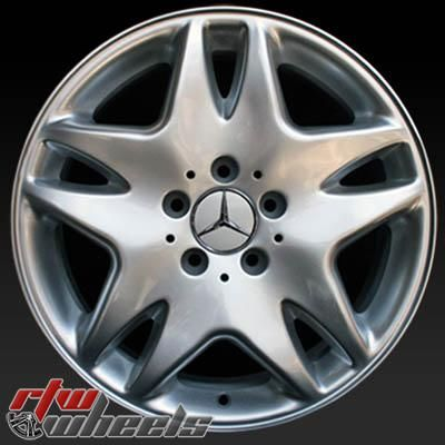 "Mercedes S500 wheels for sale 2003. 17"" Silver rims 65308 - http://www.rtwwheels.com/store/shop/mercedes-s500-wheels-for-sale-17-silver-65308/"