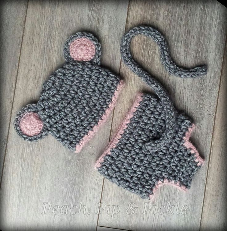 Crochet+Baby+Mouse+Hat+and+Nappy+Cover+set++by+PeachPipPickle,+£18.00