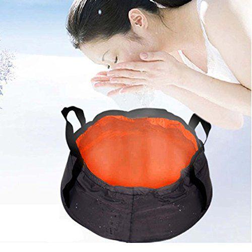 MMRM Applied 8.5L Folding Washbasin Sink Water Bag Pot Novel Camping Hiking Equipment – Orange
