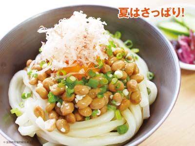 納豆ぶっかけうどん|納豆レシピ|あづま食品