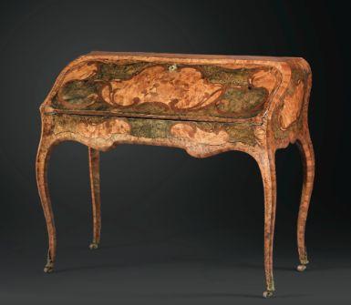 Louis xv period desk by grenoble ebenistes pierre 1705 76 - Ebeniste grenoble ...