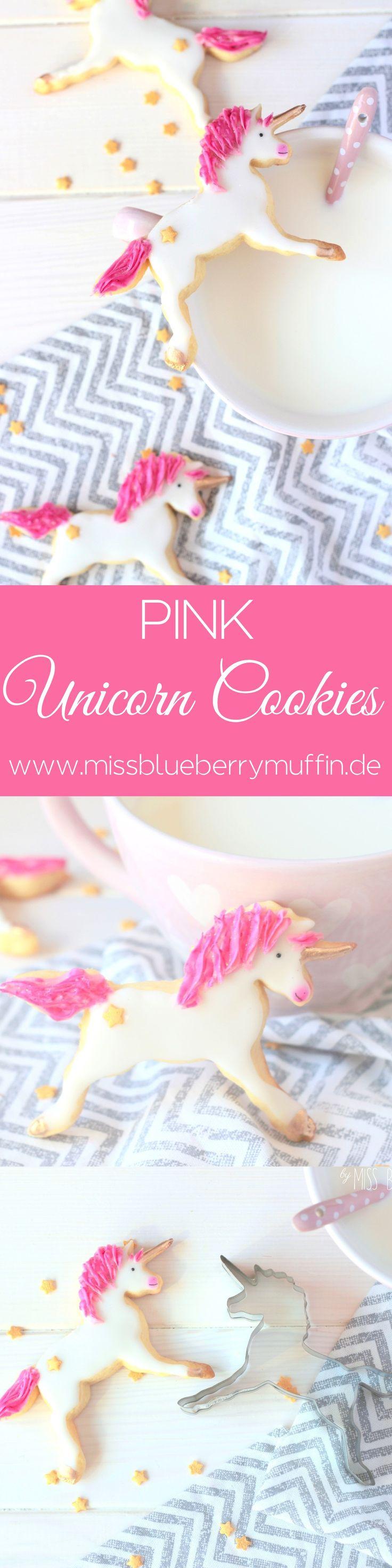 Gibt es etwas süßeres als pinke Einhorn Cookies? <3 // Pink Unicorn Cookies