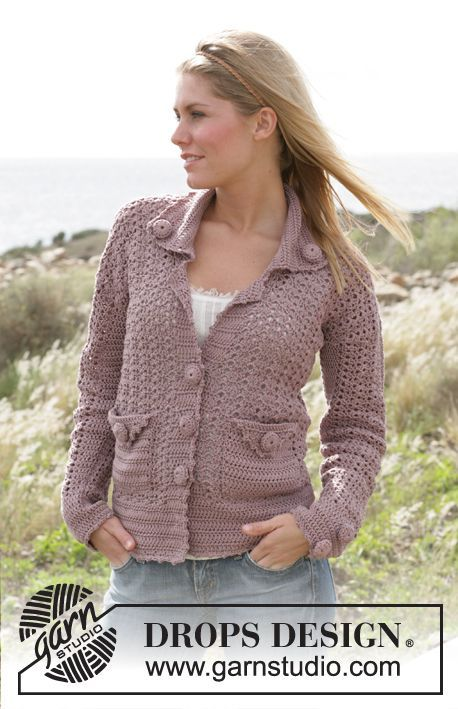"Free pattern for ""Crochet Jacket in Muskat"" by DROPS Design!"