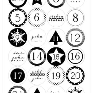 Printable – Adventskalenderzahlen | Kindergeburtstagblog - Minidrops