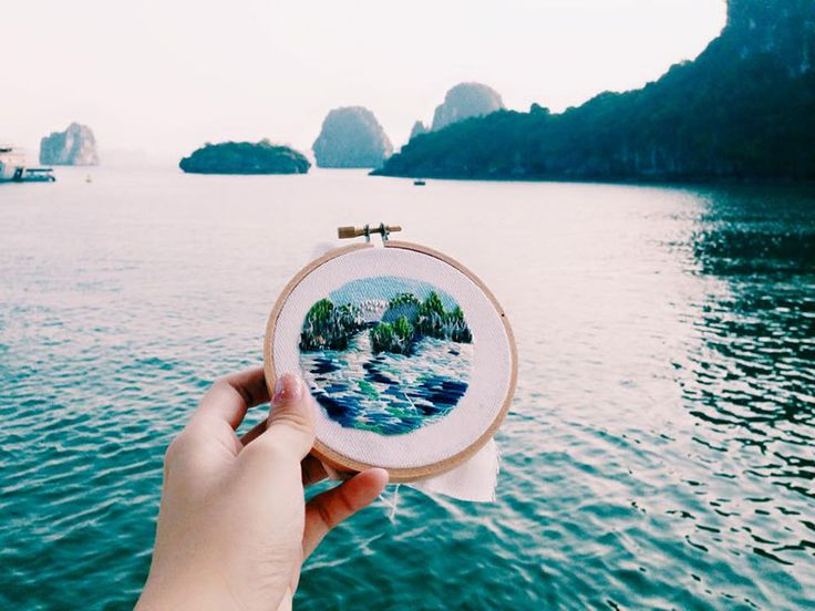 Artist Teresa Lim uses embroidery instead of photographs to capture the places she's been