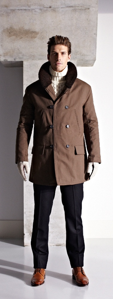 Urbanized hunting overcoat by D.S. Dundee