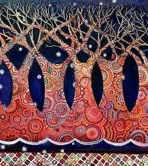colourful art - trees