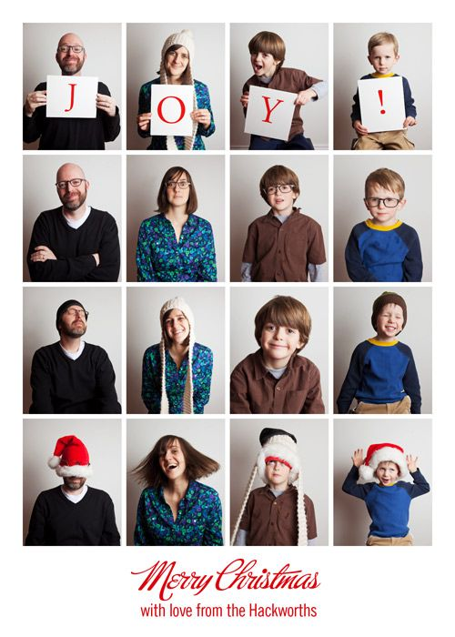 Justin hackworths family photo booth christmas card really captures the joy of the season love this idea for holiday card or even a family portrait