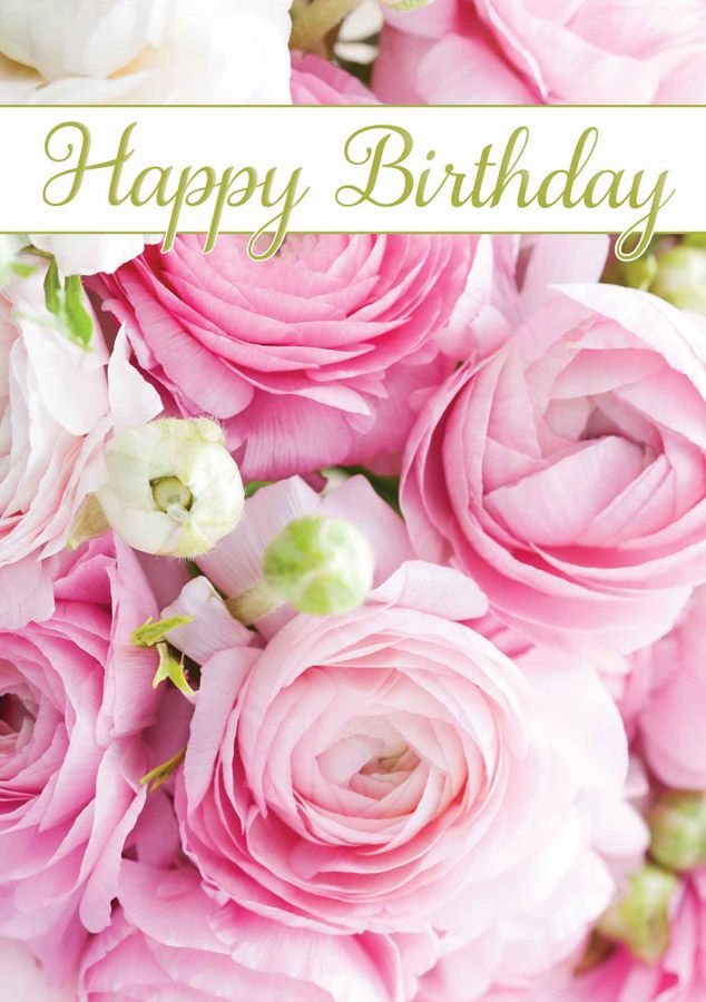 Happy Birthday With Pink Flowers | Happy Birthday | Pinterest | Happy ...: https://www.pinterest.com/pin/572801646331572015
