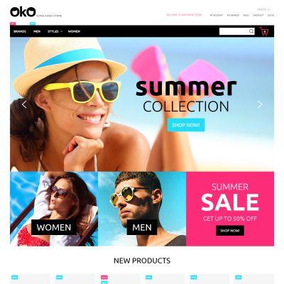 Sunglasses Shop Responsive Magento Template